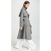 Maggie Marilyn Be Strong And Courageous Trench Black/Cream Check/Herringbone Fabric: Crisp weave MGMAR30045 PRUIEMN